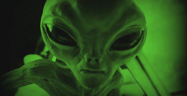 Creepy Green Alien