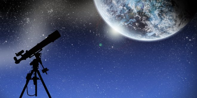 Telescope and Moon