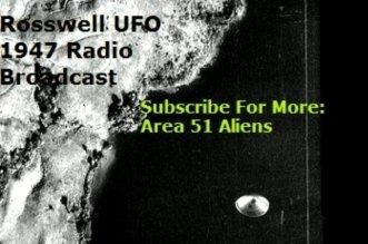 Roswell UFO Radio News Report 1947