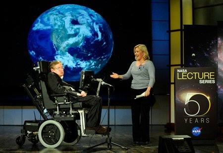 Stephen Hawking and Lucy Hawking