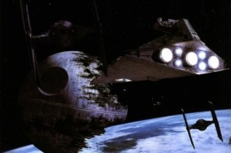 Star Wars Death Star and Star Destroyer